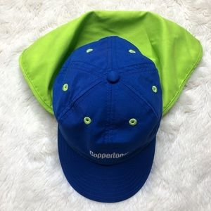 Coppertone Kids Ball Cap/Sunhat Blue & Green Small